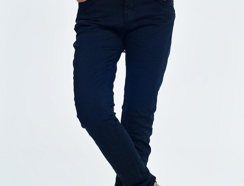 Drop Crotch Skinny Jean in Navy