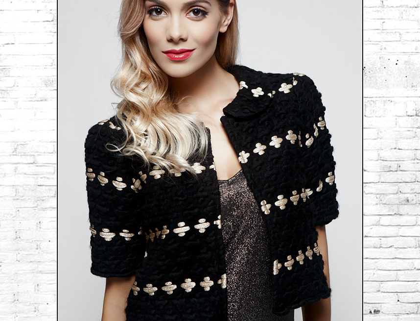 Black & Gold Wool Jacket