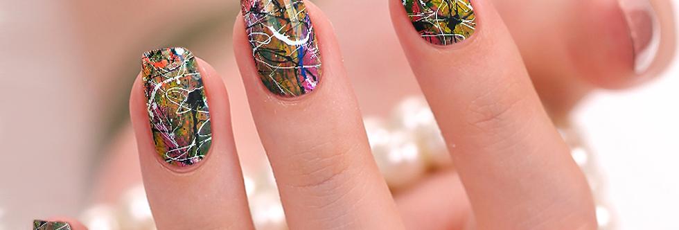 Paint Splatter Nail Wraps