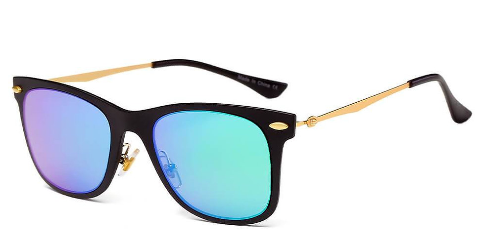 DUGALD | D31 - Classic Horn Rimmed Rectangle Fashion Sunglasses