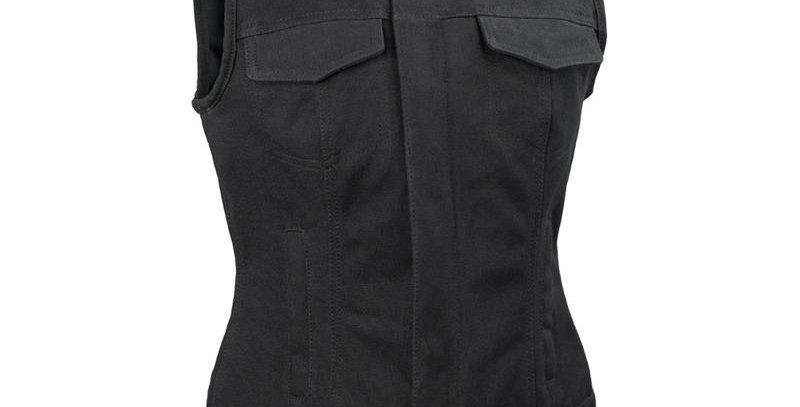 MKL - Ludlow Canvas Women's Leather Motorcycle Vest