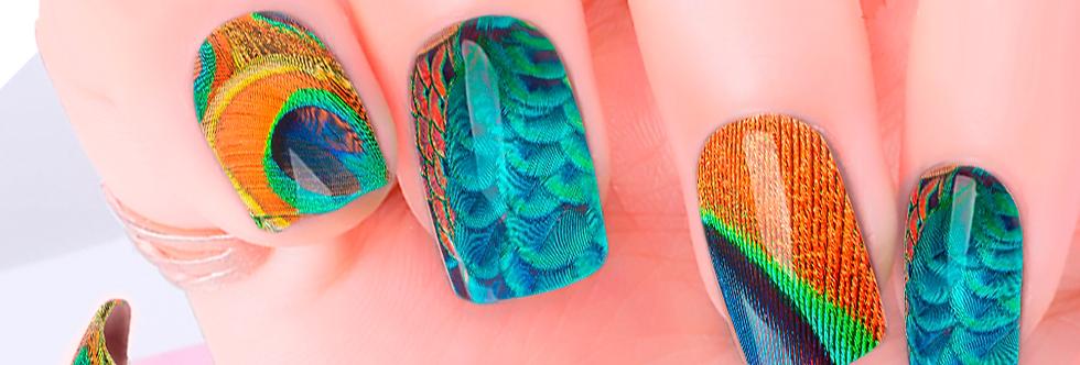 Peacock Nail Wraps