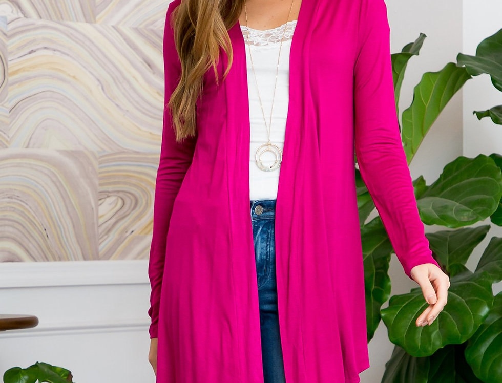 Drapey Open Front Cardigan