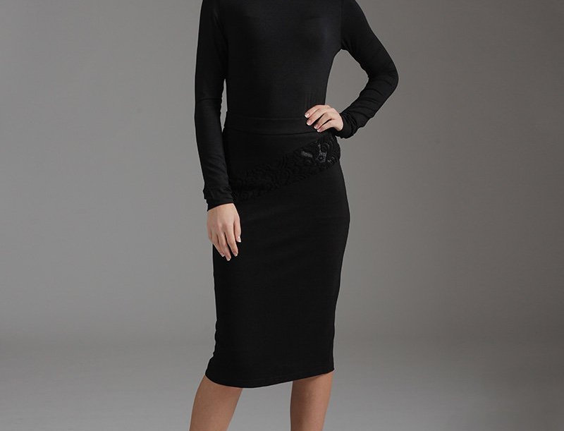 Pencil Skirt With Burn Out Detail