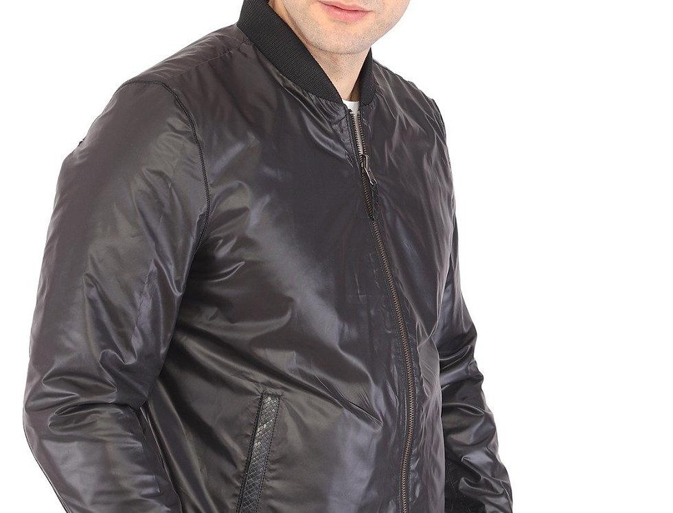 Aaron Men's Natural Lambskin Reversible Leather Jacket