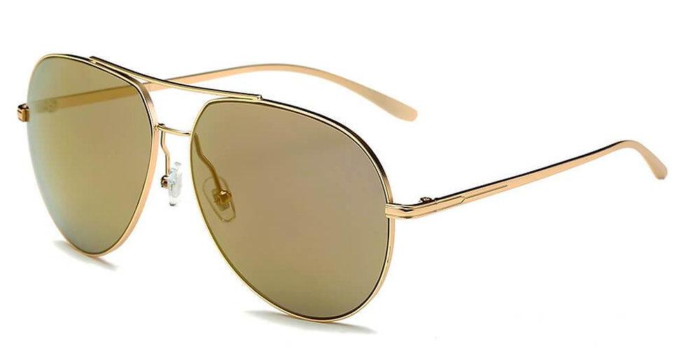ESTERO   CD01 - Unisex Oversize Mirrored Lens Aviator Sunglasses