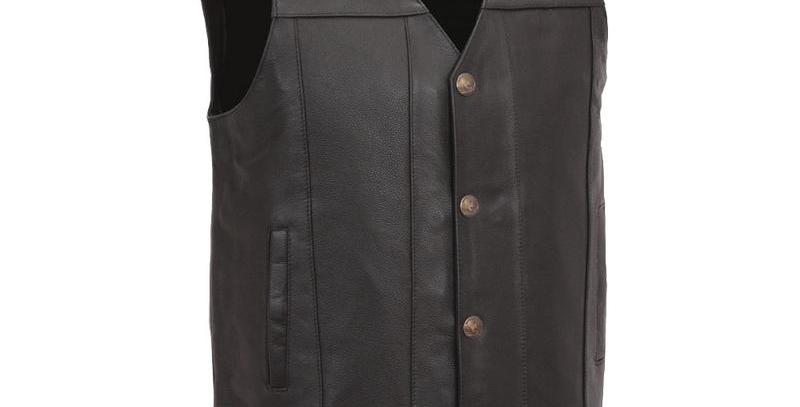 MKL - Gun Runner Men's Motorcycle Western Style Leather Vest