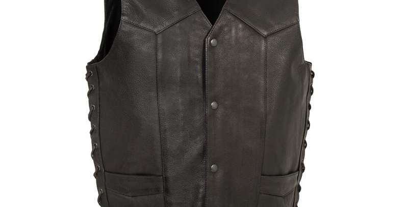 MKL - Rancher Men's Motorcycle Western Style Leather Vest