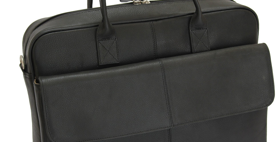 BRUNO -Leather Black  Briefcase MJ -Bag -Satchel -Moroccan Handmade