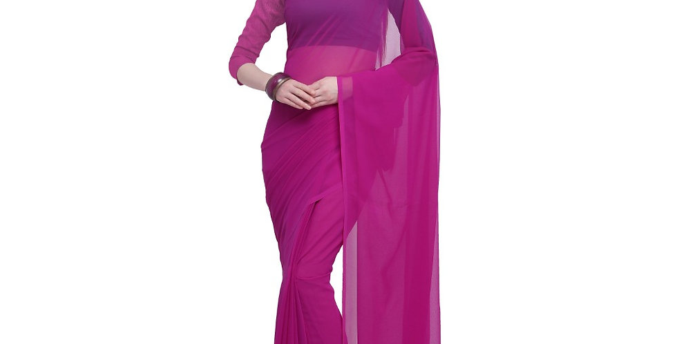 Women's Dyed Saree(Pink,5-6 Mtrs)