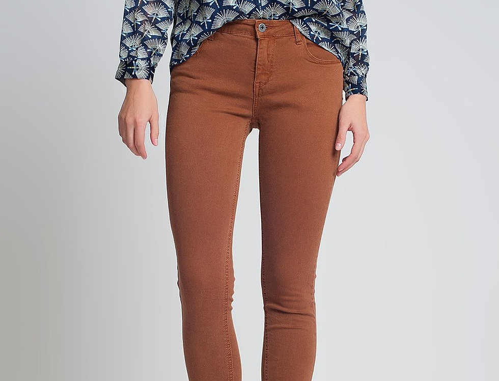 High Waisted Super Skinny Pants in Camel
