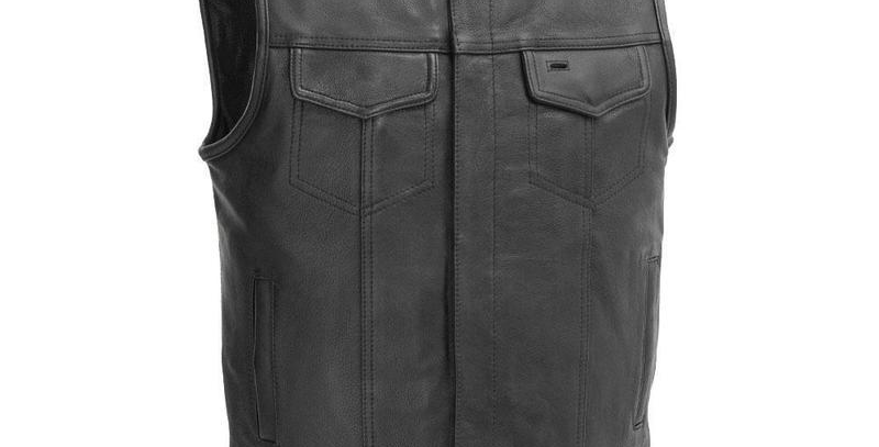 MKL - No Rival Men's Motorcycle Leather Vest