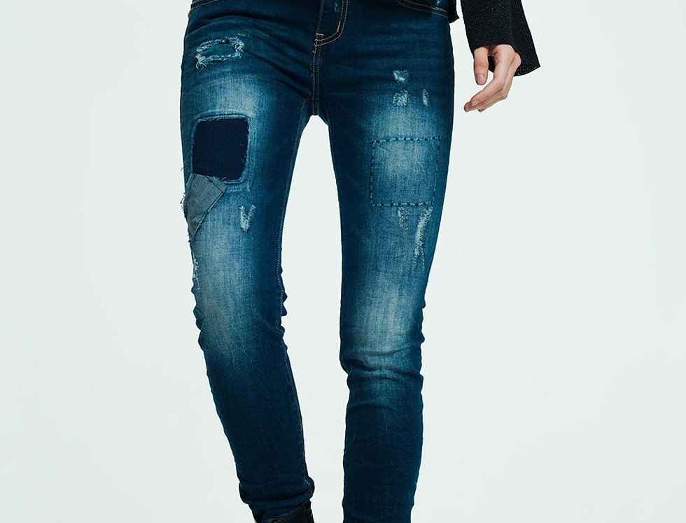 Deconstructed Jeans in Indigo