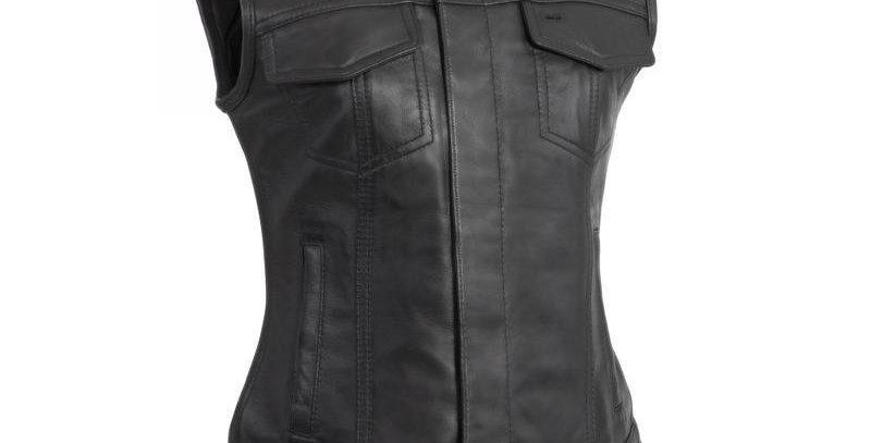MKL - Ludlow Women's Motorcycle Leather Vest