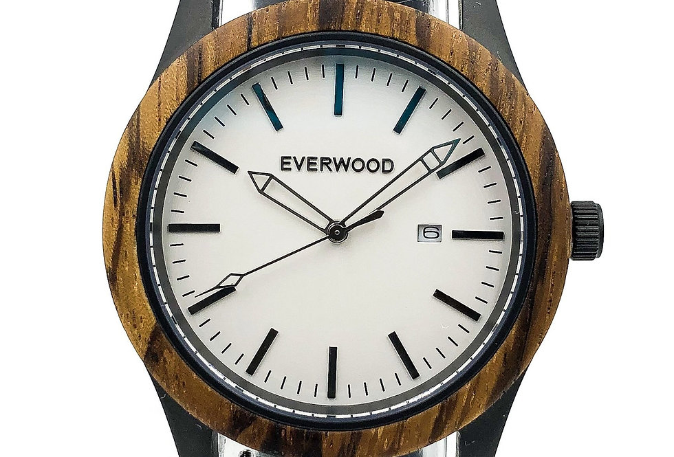 Inverness | Zebrawood | Black Leather