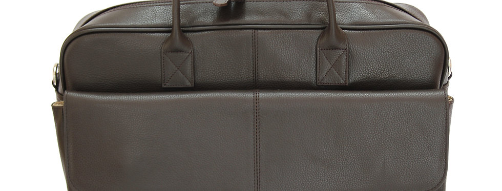 BRUNO -Leather Brown Briefcase MJ -Bag -Satchel -Moroccan Handmade