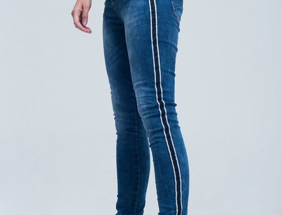 Jeans Skinny With Stripes on the Side