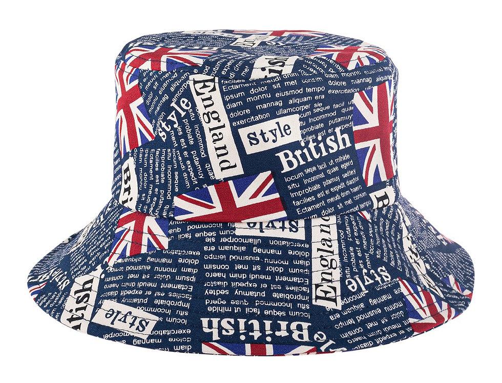 Hdt3235sp - Sapphire England Printed Bucket Hat
