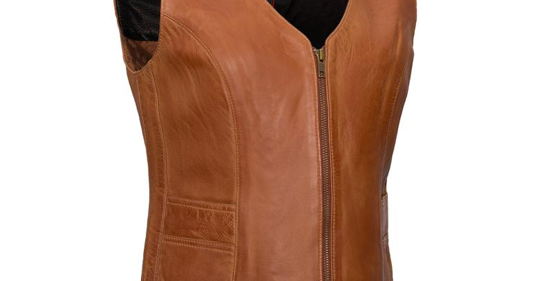 MKL - Savannah Women's Motorcycle Western Style Leather Vest