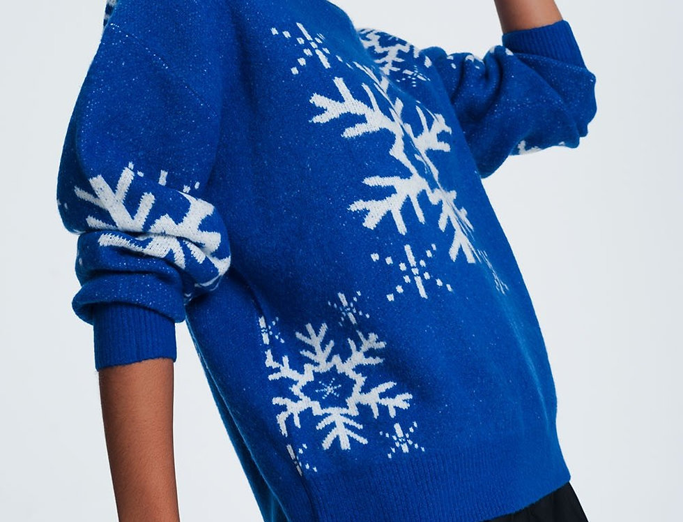 Blue Snowflake Sweater