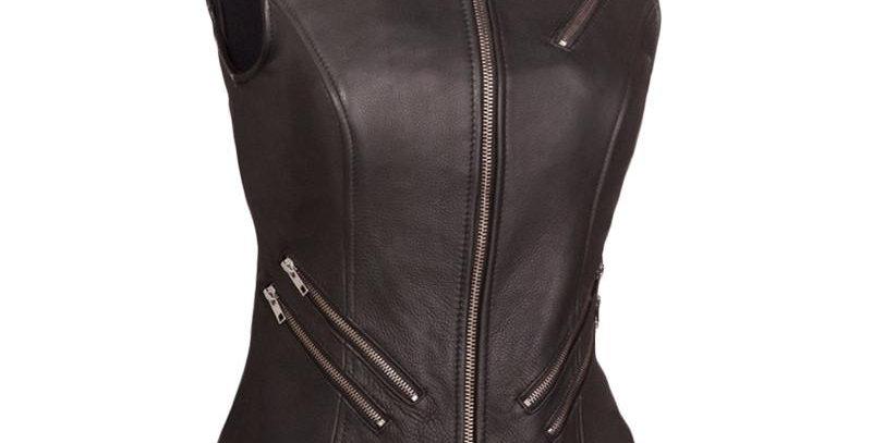 MKL - Fairmont Women's Motorcycle Leather Vest