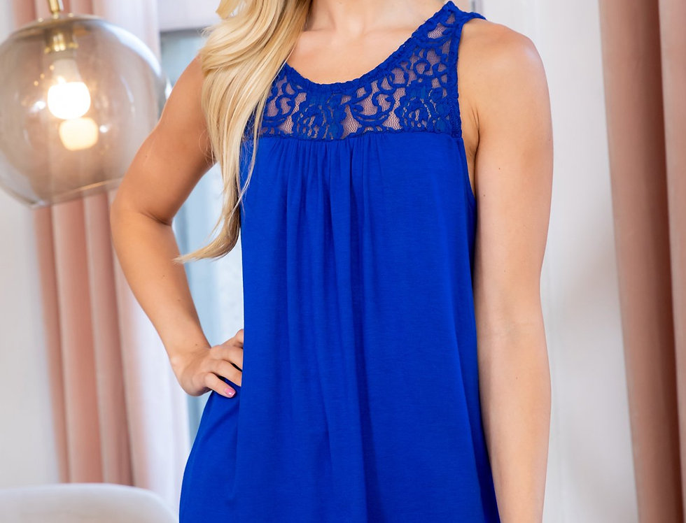 Sleeveless Lace Detail Top