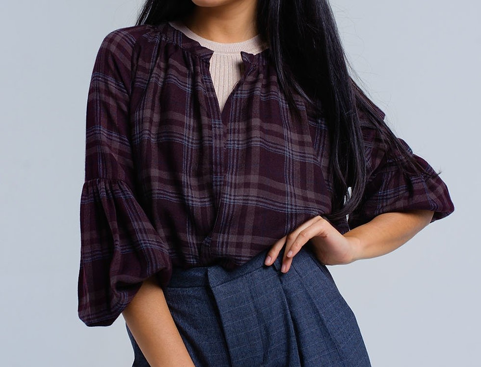 Bordeaux Checked Shirt