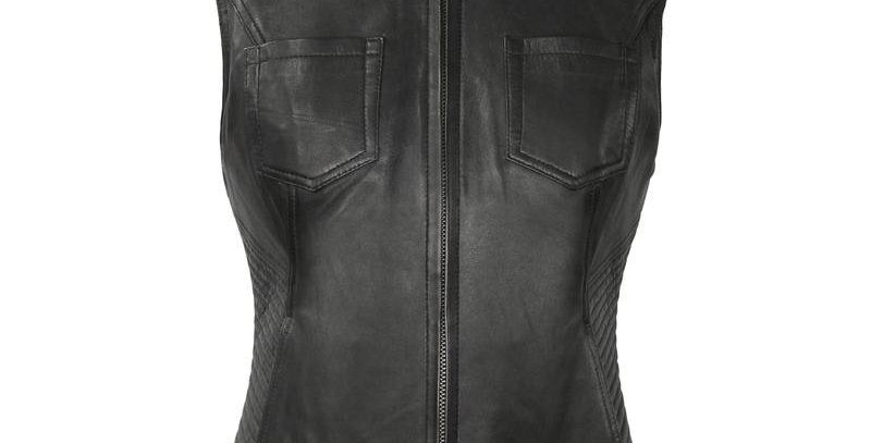 MKL - Envy Women's Motorcycle Leather Vest