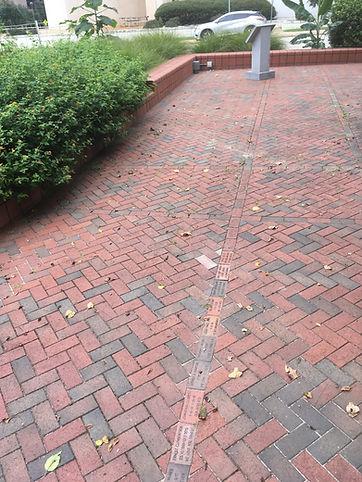 View of Memorial Bricks in Garden - Sept