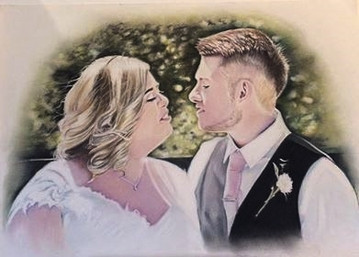 Wedding Day Pastel Portrait