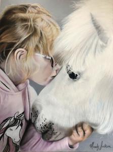 Girl & Pony Pet portrait