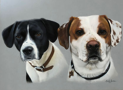Family pet portrait duo
