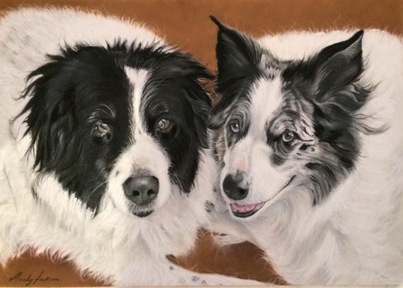 Dogs together portrait