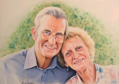 People pastel portrait