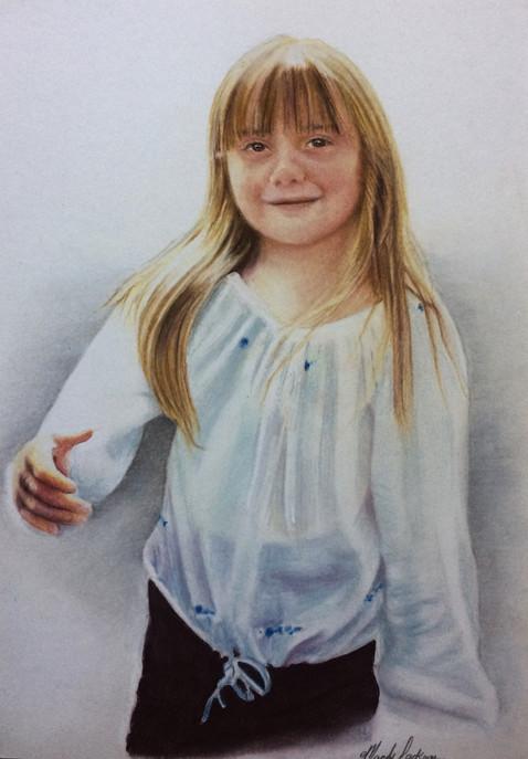 Child pastel portrait