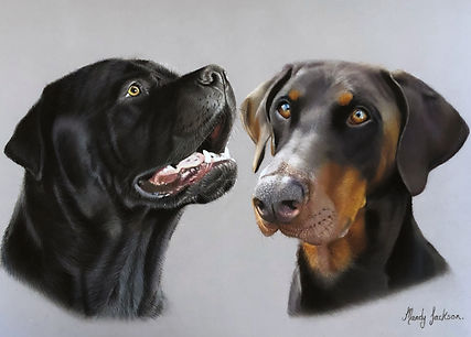 Family duo pet portrait