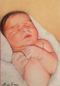 New born pastel portrait