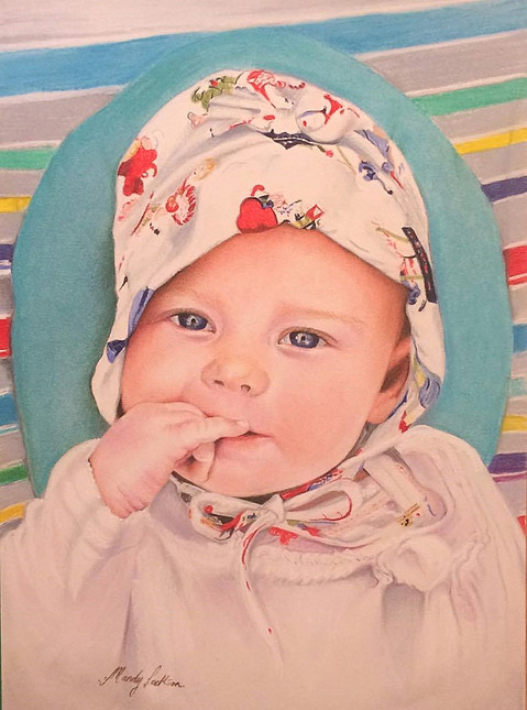 Baby pastel portrait