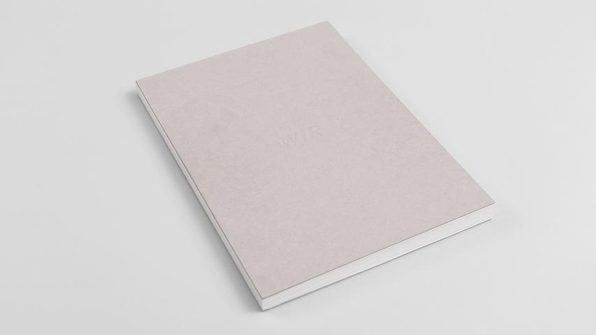 """cover """"WIR""""  nacked letterpress on 1.9mm Ekaboard"""