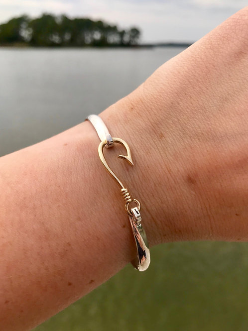 Hooked Bracelet with 14k Yellow Gold