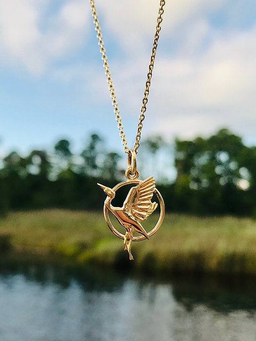 The 14k Heron Necklace