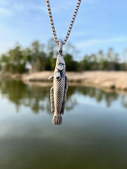3-D Snakehead Necklace