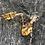 Thumbnail: 14k Citrine and Diamond Earrings