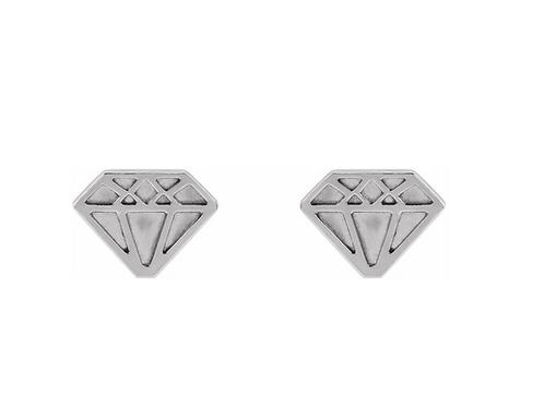 """Petite """"Diamond"""" Stud Earrings"""
