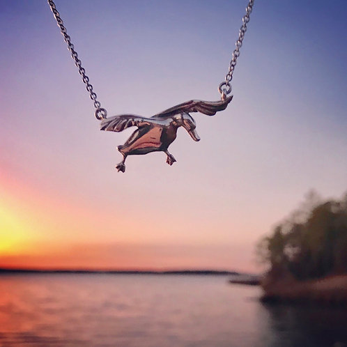 The Dorchester Duck Necklace by LS