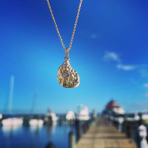 14k Shuck It Oyster Necklace