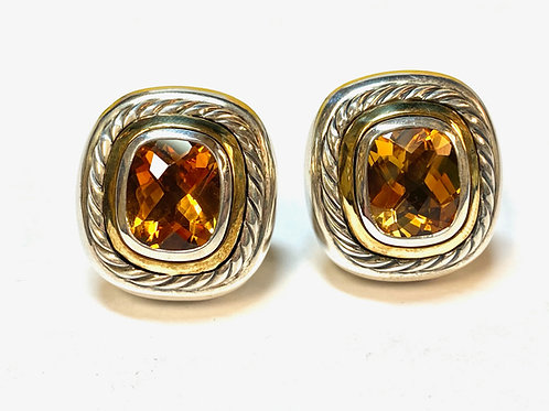 Estate David Yurman Citrine Earrings