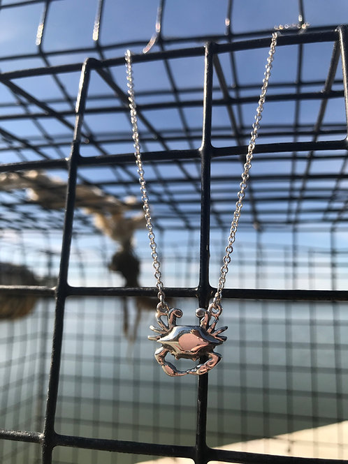 Backfin Crab Necklace by LS