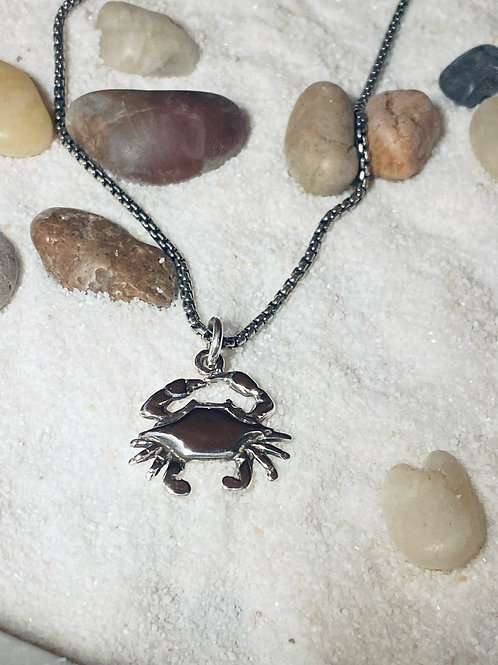 Backfin Crab Charm Necklace