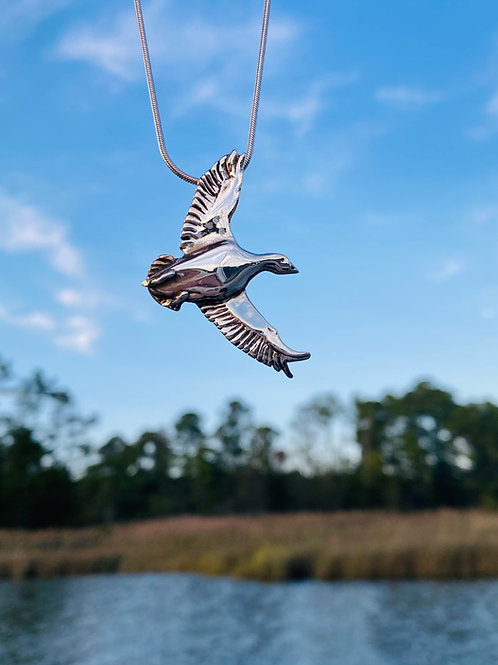 Soaring Snow Goose Necklace